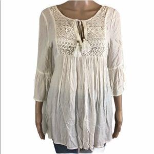 Forever 21 boho peasant blouse